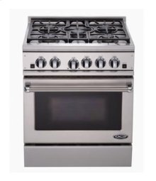 "Brushed Stainless Steel 30"" Prof. Gas Range"