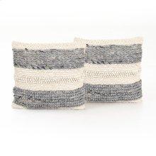 "20x20"" Size Textured Stripe Pillow, Set of 2"