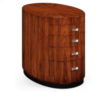 Art Deco Oval Chest of Drawers for Stainless Steel Handles (High Lustre)