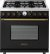Additional Range DECO 36'' Classic Black matte, Bronze 6 gas, electric oven, self-clean
