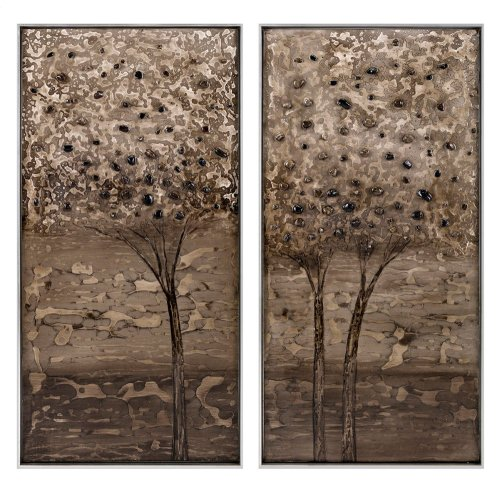Transpire Wood Framed Oil Painting - Ast 2