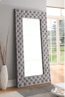 Upholstered Floor Mirror-grey Product Image