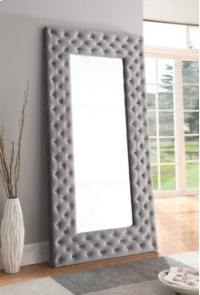 Upholstered Floor Mirror-grey