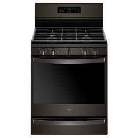 Whirlpool® 5.8 Cu. Ft. Freestanding Gas Range with Frozen Bake Technology - Black Stainless