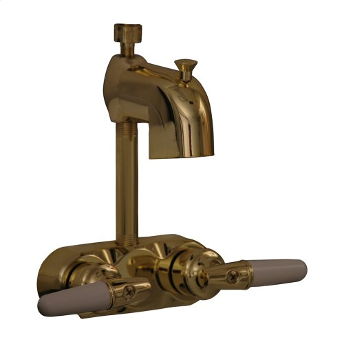 Tub Filler with Diverter - Polished Brass