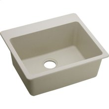"Elkay Quartz Classic 25"" x 22"" x 9-1/2"", Single Bowl Drop-in Sink, Bisque"