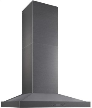"Notte - 29-7/8"" Black Stainless Steel Chimney Range Hood, 550 CFM"