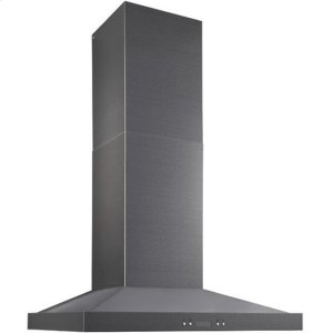 "BestNotte - 29-7/8"" Black Stainless Steel Chimney Range Hood, 550 CFM"