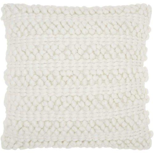 """Life Styles Dc827 White 20"""" X 20"""" Throw Pillows"""