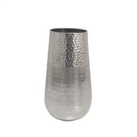 Silver Hammered Metal Vase