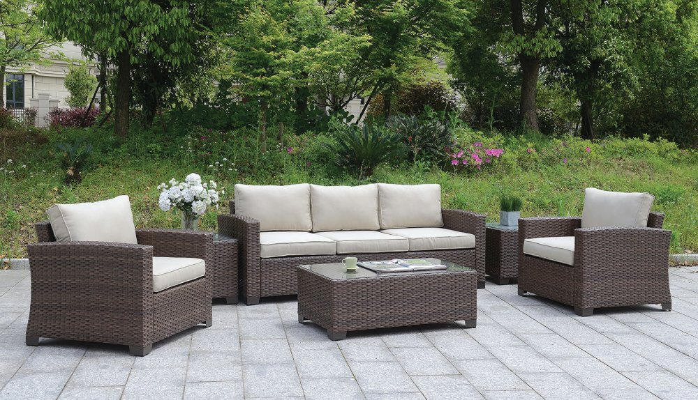 Brindsmade 6 Pc. Patio Set W/ Coffee Table U0026 2 End Tables