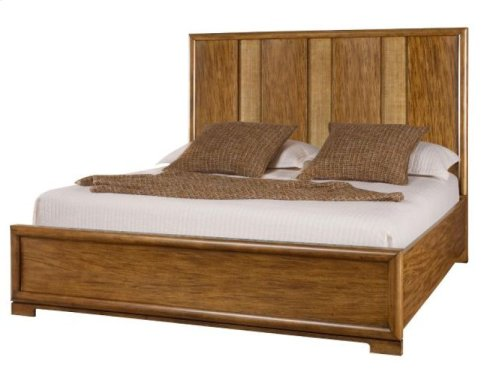 Raffia California King Panel Bed Complete