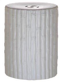 Bamboo Garden Stool - White