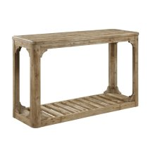Emerald Home Barnwood Sofa Table W/bottom Slat Shelf-caramel T121-02