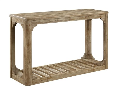 Emerald Home Barnwood Sofa Table W/bottom Slat Shelf-caramel T121-02
