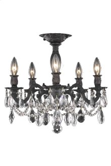 8205 Rosalia Collection Flush Mount Dark Bronze Finish
