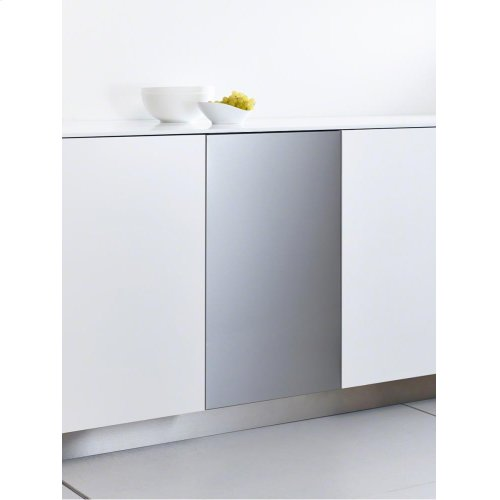 GFVi 453/72-1 Int. front panel: W x H, 18 x 28 in Clean Touch Steel w/o handle & bore holes for fully integrated dishwashers