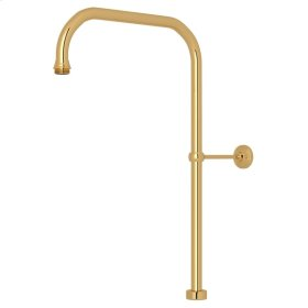 """English Gold Perrin & Rowe 40"""" X 15"""" Rigid Riser Shower Outlet"""