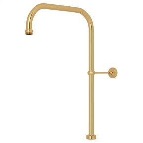 "English Gold Perrin & Rowe 40"" x 15"" Rigid Riser Shower Outlet"