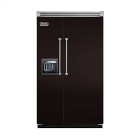 """Chocolate 48"""" Side-by-Side Refrigerator/Freezer with Dispenser - VISB (Integrated Installation)"""