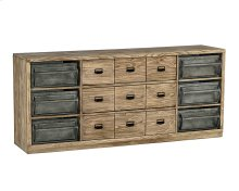 Ecru Workshop Dresser with Metal Bins