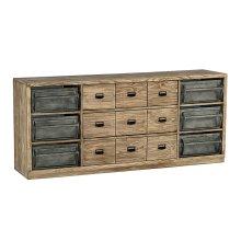 Ecru Workshop Dresser with Metal Bins