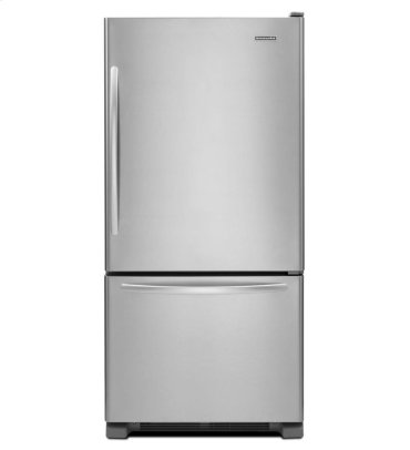 19 Cu. Ft. Standard-Depth Bottom-Freezer Refrigerator, Architect® Series II - Monochromatic Stainless Steel