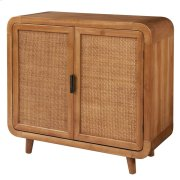 Maile KD Small Cabinet w/ 2 Bamboo Panels Doors, Tawny Brown Product Image