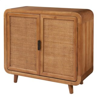 Maile KD Small Cabinet w/ 2 Bamboo Panels Doors, Tawny Brown