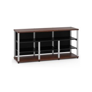 Salamander DesignsSynergy 30 Triple-Width Core Module with Center Opening, Walnut with Aluminum Posts