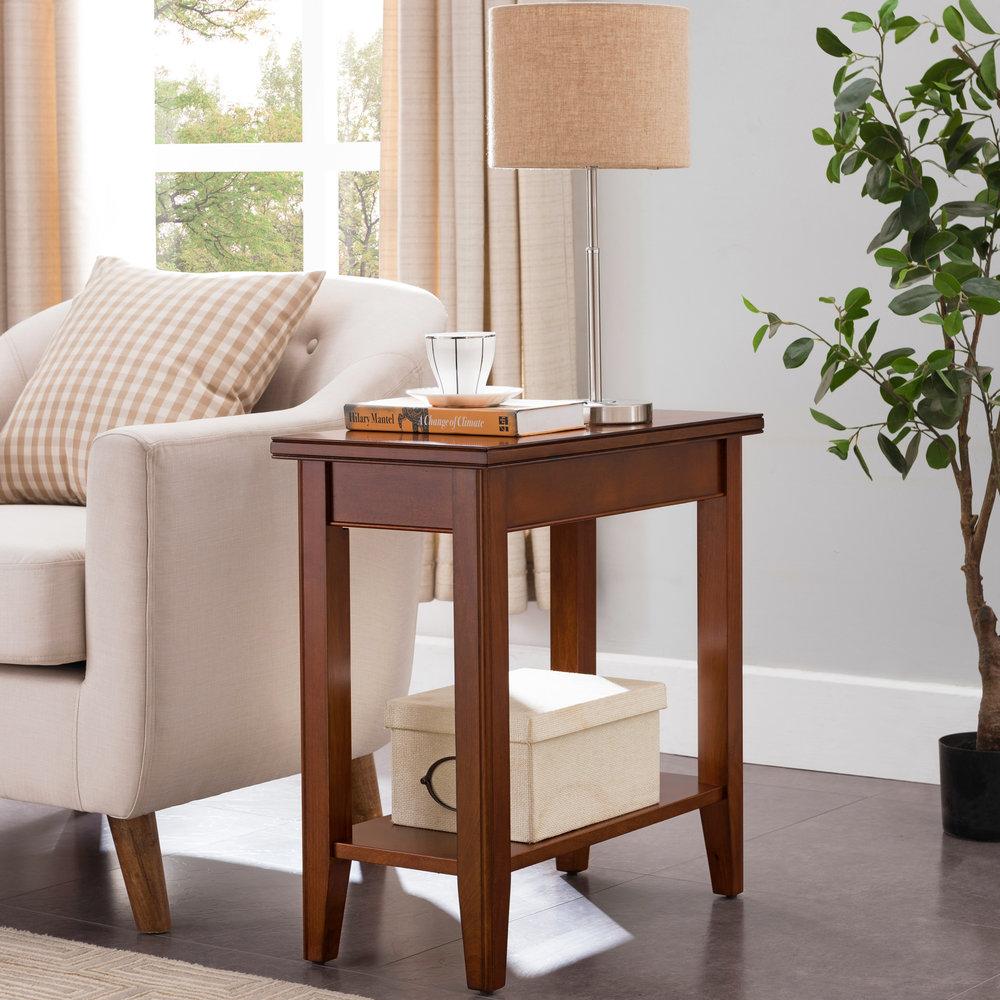 narrow chairside table with drawers hidden additional grayson narrow chairside table 10505sn 10505sn in by leick furniture inc ridgeway wi