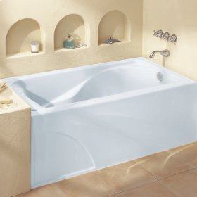 Cadet 60x32-inch Integral Apron Bathtub - White