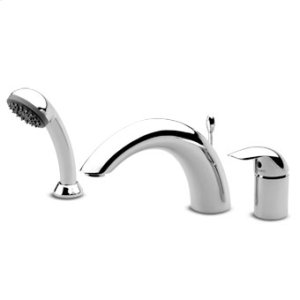 3 hole bath tub single lever mixer fixed spout pull out handshower Z94717.C flexible 1500mm.