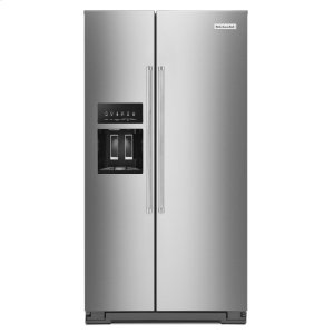 KitchenAid24.8 cu ft. Side-by-Side Refrigerator with Exterior Ice and Water and PrintShield™ finish - Stainless Steel with PrintShield™ Finish