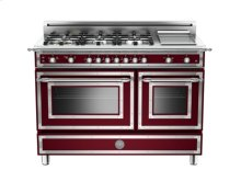 Matt-burgundy 48 6-Burner, Gas Double Oven