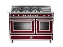 Matt-burgundy 48 6-Burner, Gas Double Oven