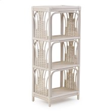 Rattan Small Etagere Whitewash 4475