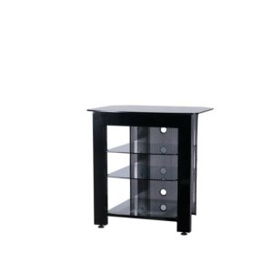 SanusBlack TV/AV Stand Rigid strength and contemporary design in an affordable package