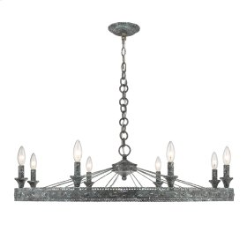 Ferris 8 Light Chandelier in Blue Verde Patina