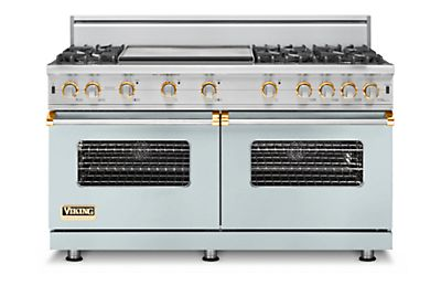 "60"" Custom Sealed Burner Range, Natural Gas, Brass Accent"