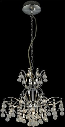 Chandeliers, Chrome/crystals, Type Jc/g4 20wx9
