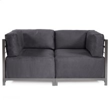 Axis 2pc Sectional Regency Gray Titanium Frame