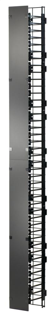 """MM20 Vertical Manager with Cover, 6""""W x 8.62""""D for 8' MM20 racks"""