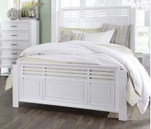 5/0 Queen Slat Bed - Tuxedo White Finish
