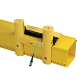 """MM Fiber Raceway Cable Guide, 4"""" wide w/cover, yellow"""