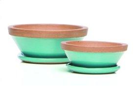 Beatrix Bowl w/ saucer, Aqua - Set of 2