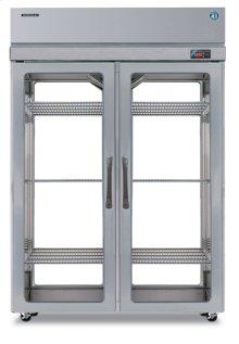 Refrigerator, Pass Thru Upright, Two Section, Full Glass Door