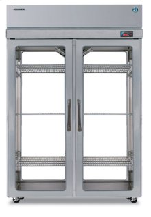 Refrigerator, Pass Thru Upright, Two Section, Full Glass Door