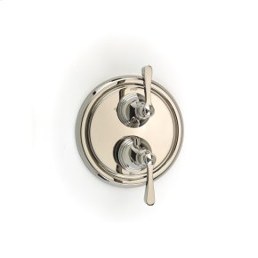 Polished Nickel Summit (Series 11) Dual Control Thermostatic with Diverter and Volume Control Valve Trim