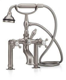 Tub Faucet with all metal Hand Shower and Diverter Tub or Wall Mount